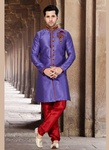 Purple Color Vogue Indo Western Sherwani