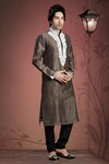Brown Color Emboridered Kurta Payjama