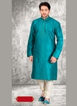 Splendid Blue Color Ethnic Kurta Payjama
