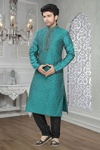 Blue Color Rich Look Navratri Kurta Payjama