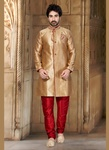 Brown Color Teal Indo Western Sherwani