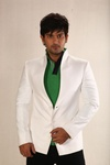 High Neck White Linen Blazer BL5002