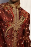 Royal Embroidery Maroon Sherwani BL2018