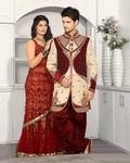 Latest Fashion Trend Cream Color Royal Sherwani For Men