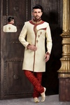 Ravishing Cream Designer Collection Royal Sherwani