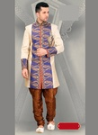 Chrming Ethnic Look Beige Royal Sherwani