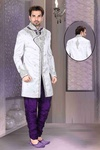 Mens White Color Royal Sherwani For Special Occasion