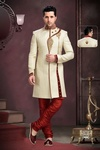 Attractive Looking Cream Wedding Royal Sherwani