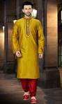 Trendy Fashion Mustard Online Kurta
