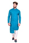 Midnight Blue Asymmetrical Indo Western Sherwani