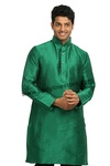 Green Silk Kurta RK4115