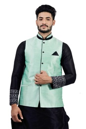 Light Green  Nehru Jacket   RK4128