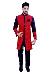 Red &  Black  Indowestern Sherwani  RK1086