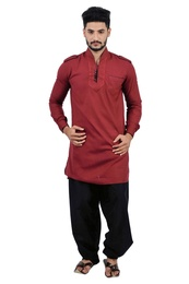 Maroon  Pathani Suit  RK4141