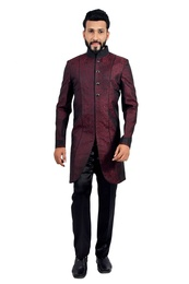 Marron &  Black  Indowestern Sherwani  RK1128