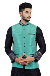 Darkcyan  Nehru Jacket   RK4134