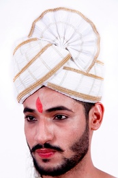 White Color Wedding Safa Turban