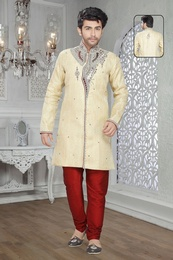 Smashing Cream Color Indo Western Sherwani