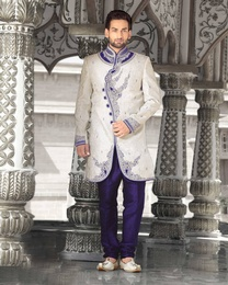 Formidable White Color Indo Western Sherwani
