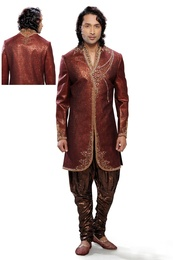 Awesome Maroon Color Indo Western Sherwani