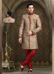 Flatter Brown Color Indo Western Sherwani