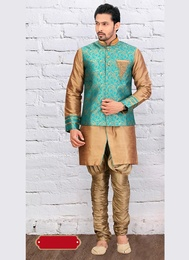 Brown Color Ethnic Look Indo Western Sherwani