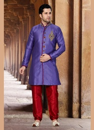 Purple Color Princely Indo Western Sherwani