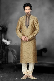 Mesmerising Brown Color Kurta Payjama