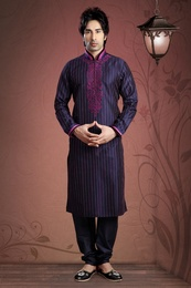 Blue Color Ethnic Kurta Payjama