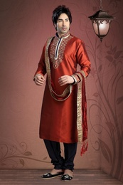 Red Color Traditional Kurta Payjama