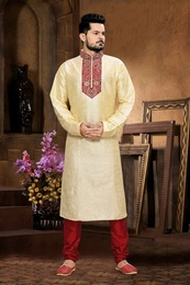Dynamism Cream Color Kurta Payjama