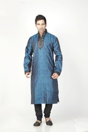 Black Blue Color Kurta Payjama