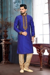 Butta And Embroidery Work  Kurta Payjama
