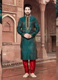 Modern Green Color Kurta Payjama