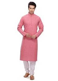 Pink Color Adolescent Kurta Payjama