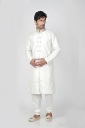 White Color Stylish Kurta Payjama