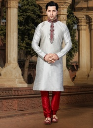 Grey Color Stunning Kurta Payjama