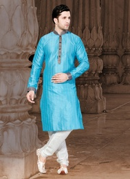Astonishing Blue Color Kurta Payjama
