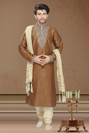 Brown Color Classical Kurta Payjama