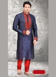 Mens Ethnic Blue Color Kurta Payjama
