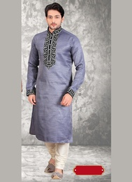 Elegant Grey Wedding Kurta Payjama