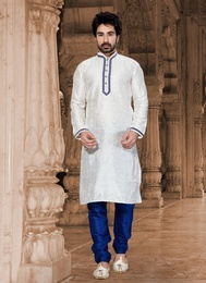Formidable White Color Kurta Payjama