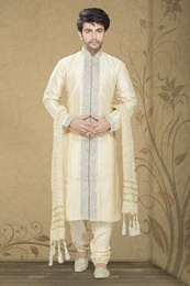 Cream Color Pristine Look Kurta Payjama