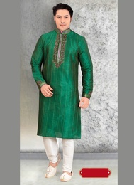 Impressive Green Wedding Kurta Payjama