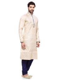 Festive Wear Mens Cream Kurta Payjama
