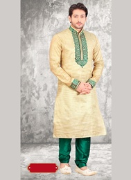 Men Ethnic Brown Kurta Payjama