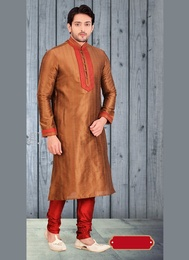 Irresistible Brown Color Kurta Payjama