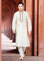 White Color Elite Kurta Payjama
