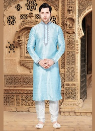 Blue Color Delight Kurta Payjama