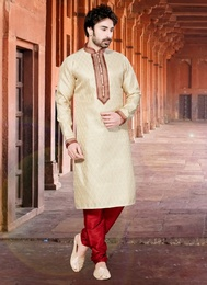 Sensational Cream Color Kurta Payjama